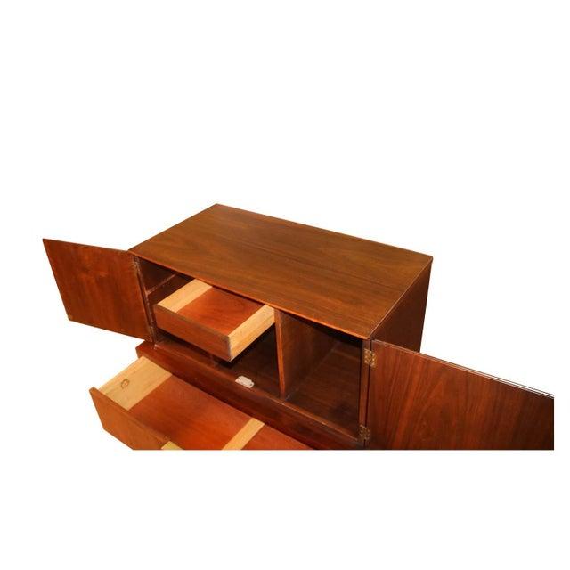 John Stuart Mid Century Highboy Walnut Dresser For Sale - Image 9 of 13