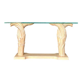 Hollywood Regency Twisted Console After Serge Roche For Sale