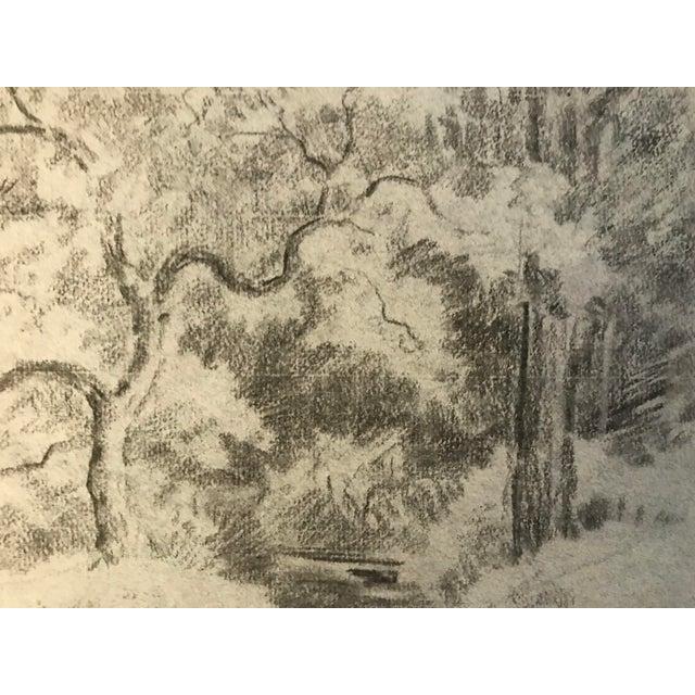 Illustration Eliot Clark Wooded Landscape Drawing For Sale - Image 3 of 6
