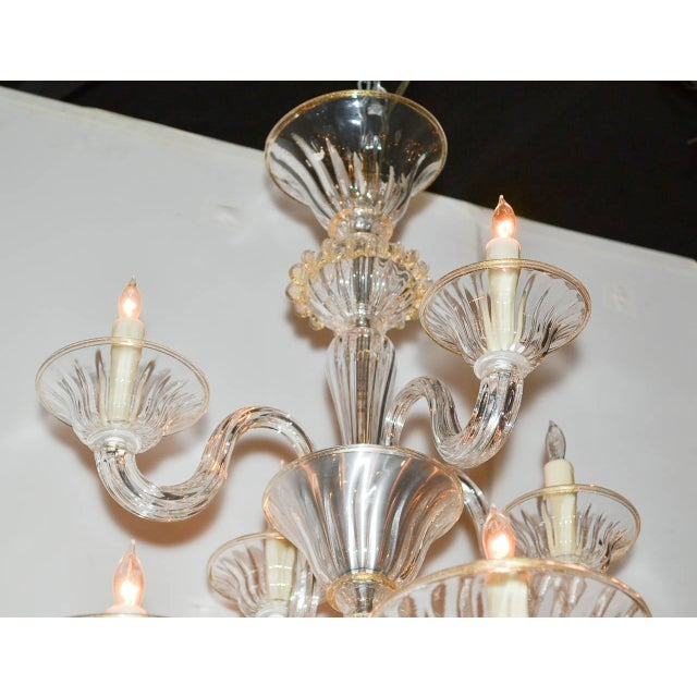 1960s Beautiful Venetian Blown Glass Chandelier For Sale - Image 5 of 9