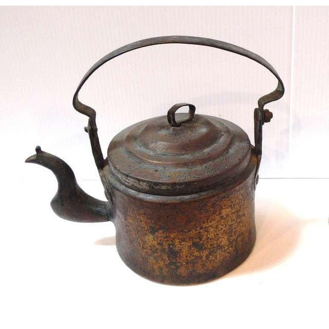 Early and rustic 18thc hand made goose neck coffee pot from New England .The patina & form is fantastic and condition is...