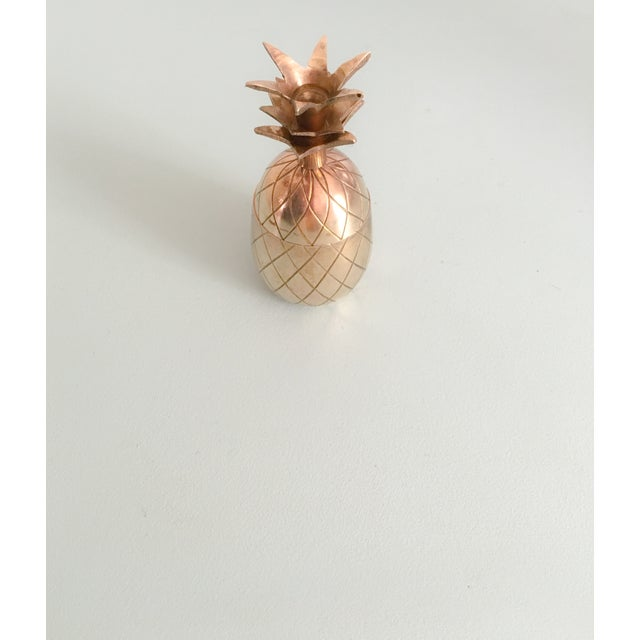 "4.5"" Petite Brass Pineapple Container - Image 2 of 7"