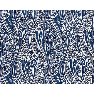 Hinson for the House of Scalamandre Fanfare Fabric in Blue For Sale