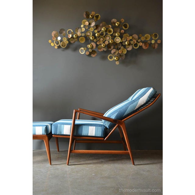 1960s Vintage I.B. Kofod Larsen for Selig Reclining Chair & Ottoman - 2 Pieces For Sale - Image 9 of 12