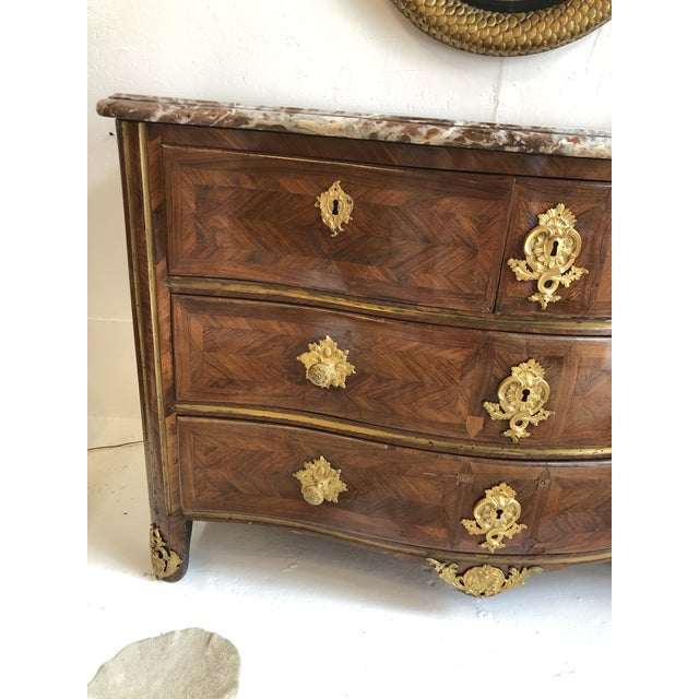 Metal Early 18th Century French Commode With Original Marble Top For Sale - Image 7 of 13