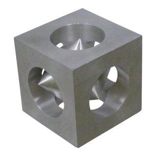 1970s Op Modern European Aluminum Puzzle Trinket For Sale