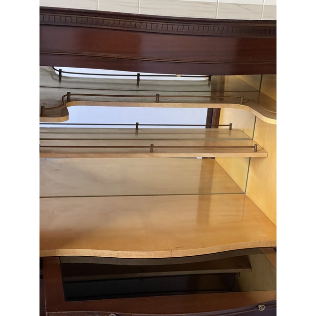 English Georgian Dry Bar With Mirrored Interior For Sale - Image 10 of 12