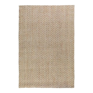 Basket Weave Natural/Bleach Jute Rug - 2 X 3 For Sale
