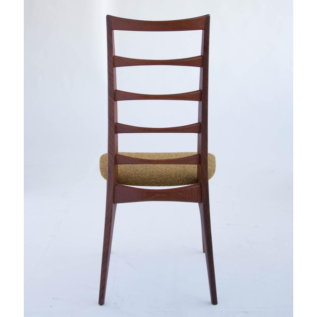 1960s Set of Koefoeds Hornslet Teak Ladder Back Dining Chairs For Sale - Image 5 of 11