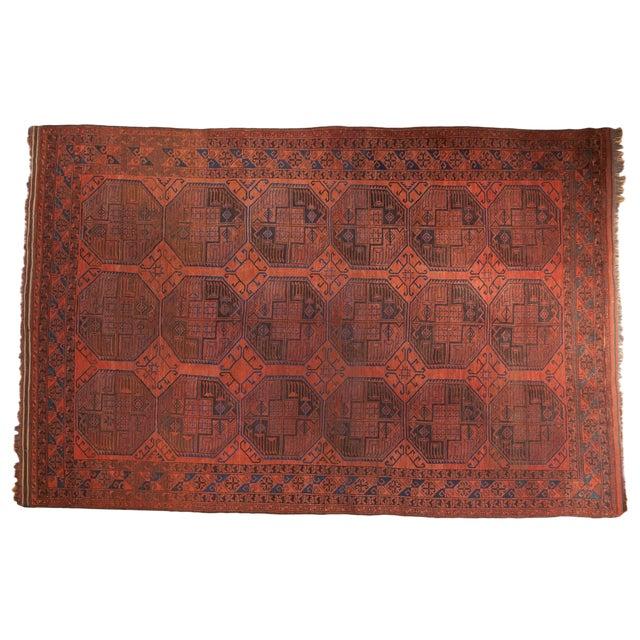 "Vintage Ersari Carpet - 7'6"" X 11'4"" For Sale"