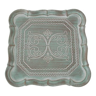Mint Florentine Scrollwork Tray For Sale