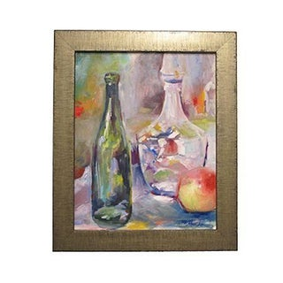 """Impressionist Acrylic Painting """"Still Life With Decanter"""" by Mary Houston"""