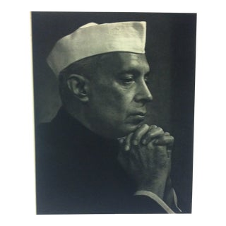 "Black & White Print on Paper, ""Jawaharlal Nehru"" by Yousuf Karsh, 1967 For Sale"