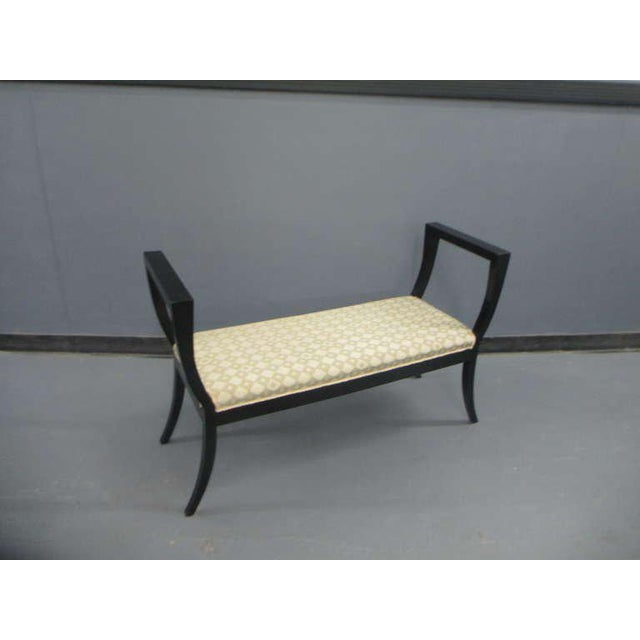 A Sculptural Lacquered Bench in the Neoclassical Manner For Sale - Image 4 of 6