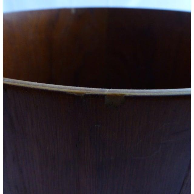 Danish Modern Teak Waste Basket - Image 4 of 10