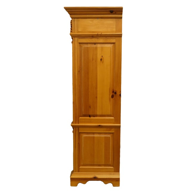 "20th Century French Country Lexington Furniture Solid Pine 48"" Tv Media Armoire For Sale - Image 9 of 13"