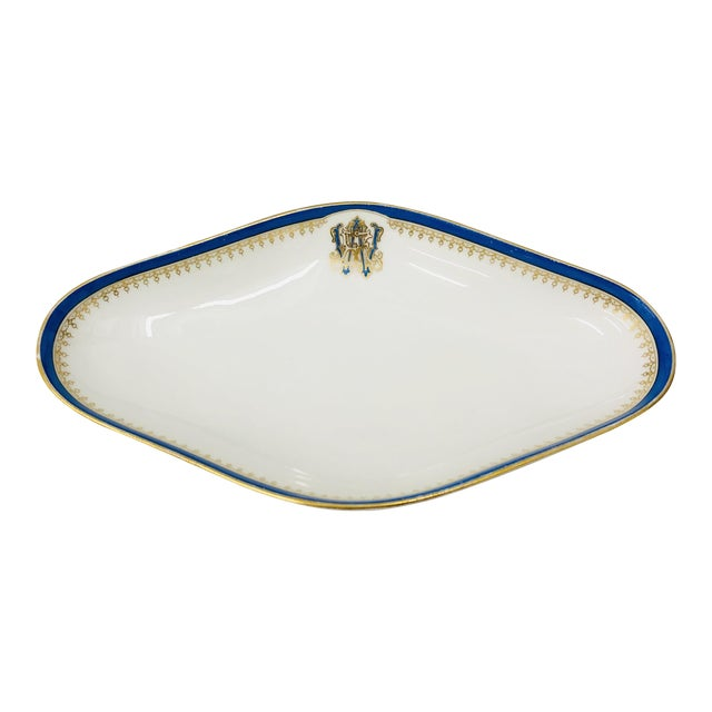 Antique French Porcelain Dish For Sale