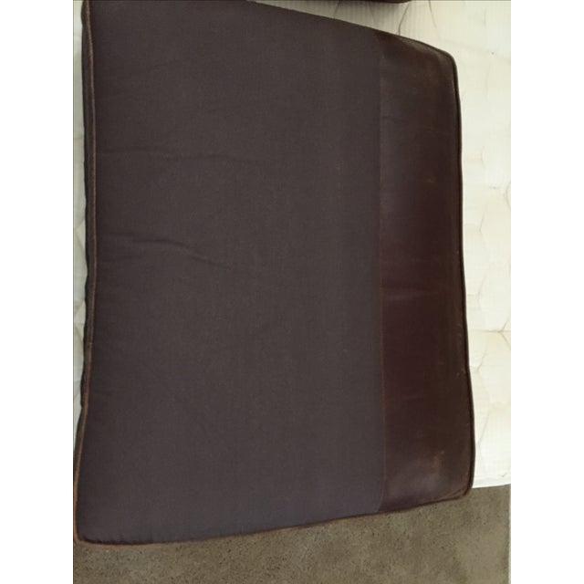 Crate & Barrel Leather Club Sleeper Sofa - Image 10 of 10