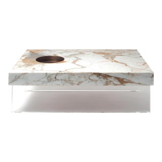 Modern Table in Calacatta Gold Marble by Stefano Belingardi Clusoni For Sale