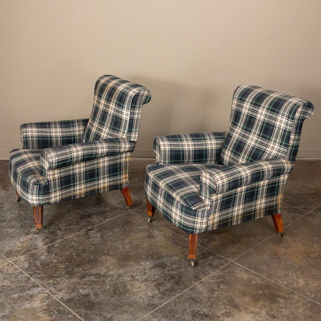 Pair Mid-Century Lounge Armchairs For Sale - Image 12 of 13