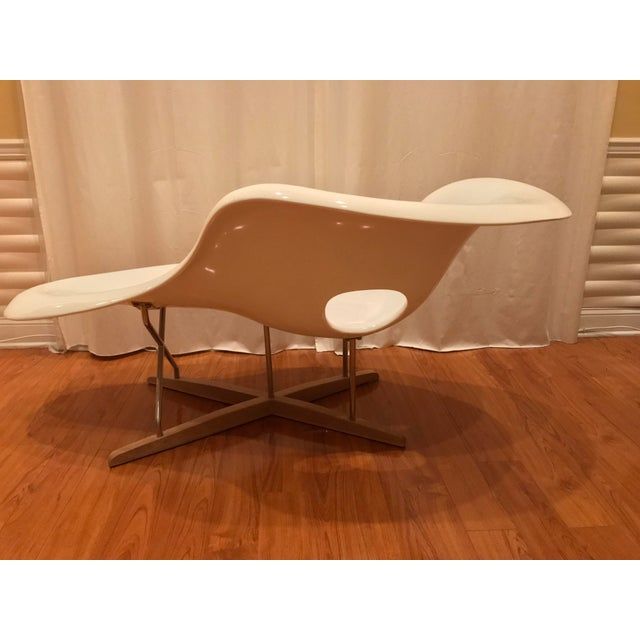 Eames La Chaise White Lounge Chair - Image 5 of 7