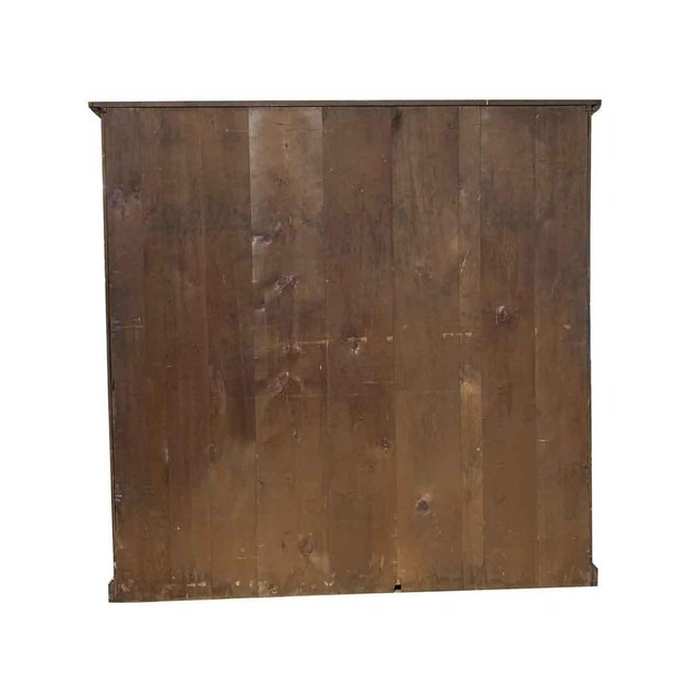Brown 19th Century Industrial Wooden Chest of 36 Drawers For Sale - Image 8 of 9