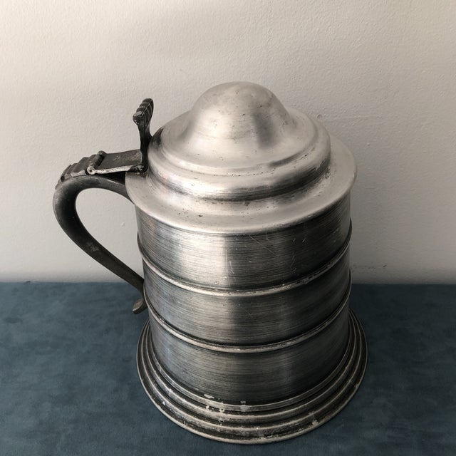 Huge beer mug pewter ice bucket made in Italy. Made in the sixties this is quite the conversation piece for a retro or mid...
