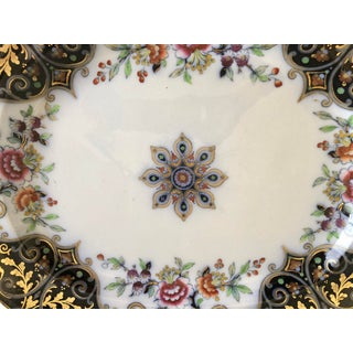 English Imari Porcelain Meat Platter, C1860 With Gold, Blue & Red Hand Painted Decor Preview