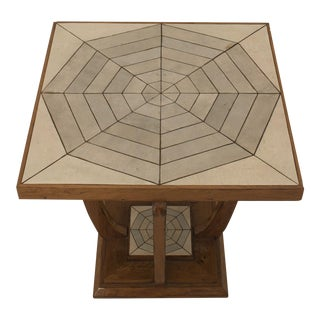 French Art Deco (1930s) Cherrywood Square End Table For Sale