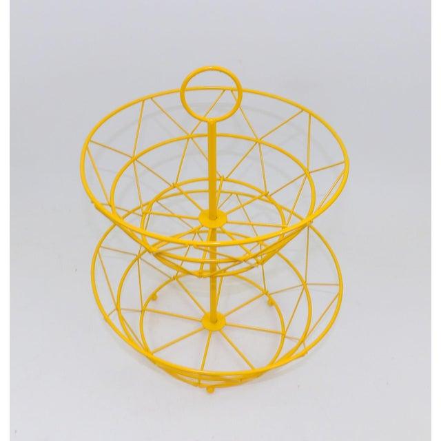 Yellow Metal Fruit Basket - Image 4 of 6