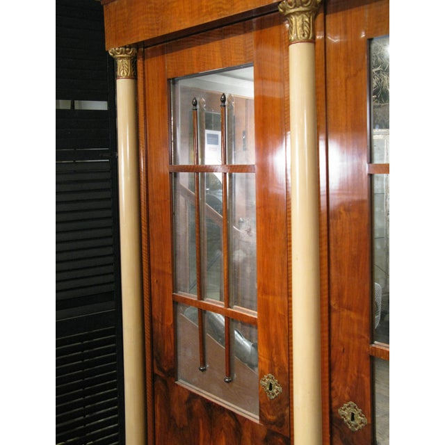 Wood Antique 19th Century Biedermeier Cabinet With Fitted Interior For Sale - Image 7 of 9