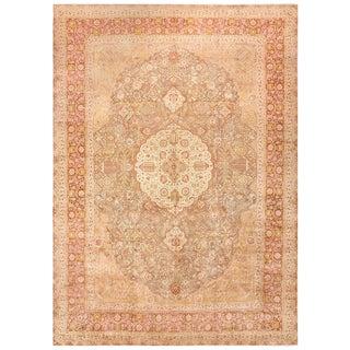 Vintage Room Sized Persian Tabriz Carpet - 9′9″ × 13′ For Sale