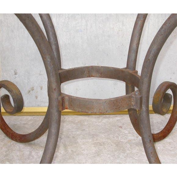 French Wrought Iron Oval Table Base For Sale - Image 4 of 7