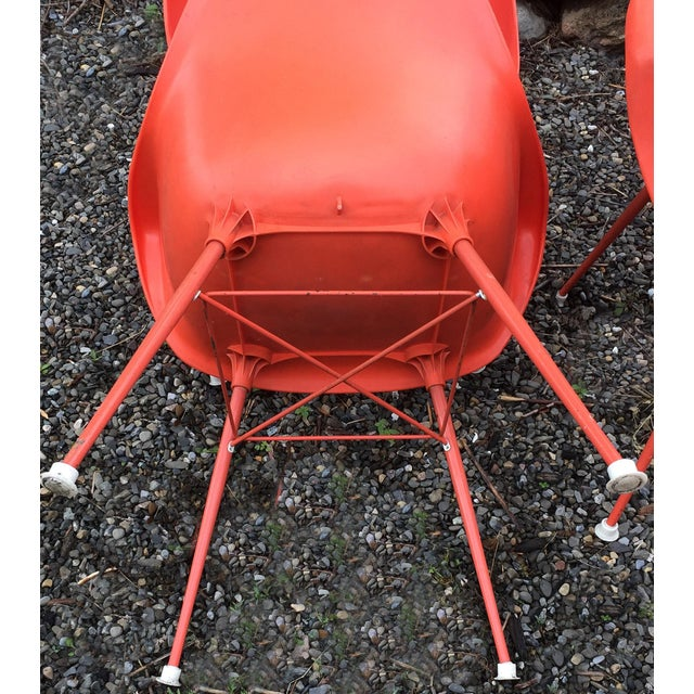 Vintage Orange Chairs - Set of 4 - Image 6 of 7