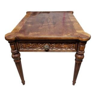Vintage Louis XVI Henredon Walnut Side Table For Sale