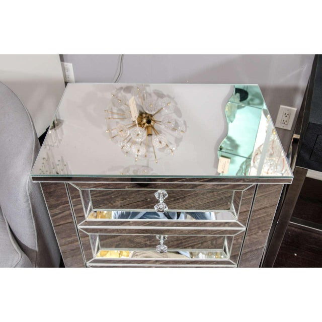 Venfield Beautiful Custom Mirrored Nightstand For Sale - Image 4 of 6