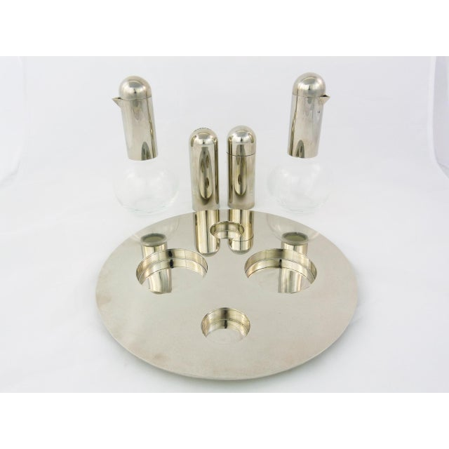 Italian Chrome Condiment Pieces - Set of 5 - Image 2 of 4