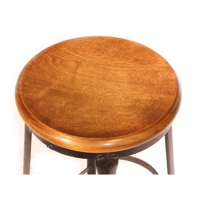 Maple Factory Shop Stool For Sale - Image 7 of 13