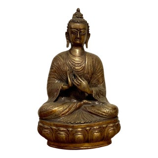 Antique Bronze Buddha Statue For Sale