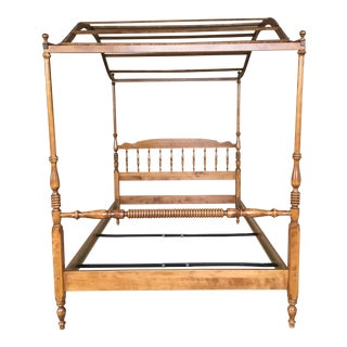 Ethan Allen Nutmeg Maple Canopy Poster Double Bed