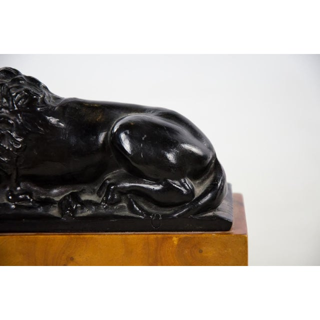 Paint Italian Neoclassical Style Lion Bookends - a Pair For Sale - Image 7 of 9