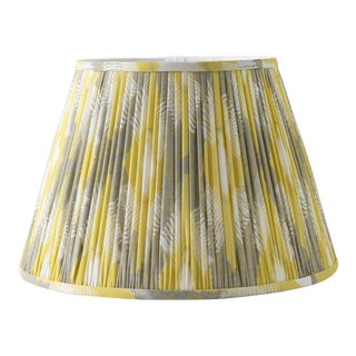 "Aztek Pleated 16"" Lamp Shade, Yellow For Sale"