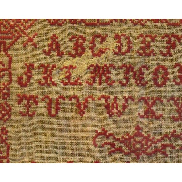 English 19th Century Embroidery Sampler - Image 4 of 5