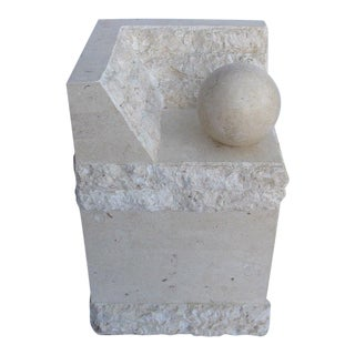 Magnussen Presidential Tessellated Marble Side Table Base For Sale