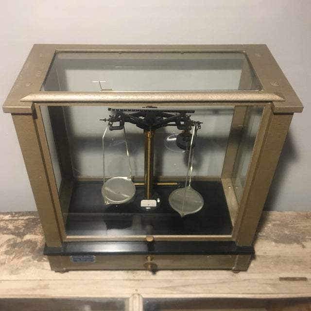 Antique Ainsworth Analytical Balance Scale - Circa 1930's For Sale - Image 10 of 13