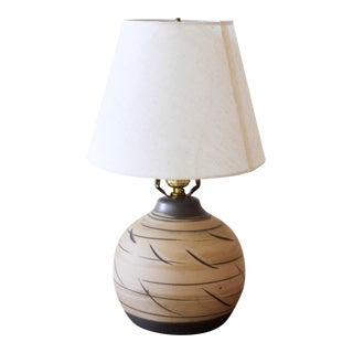 1960s Gordon and Jane Martz Handmade Ceramic Table Lamp for Marshall Studios Usa For Sale