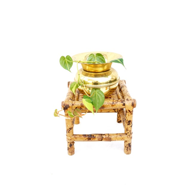 This very cute authentic vintage tortoise bamboo plant stand/accent table is the perfect way to add a natural element and...