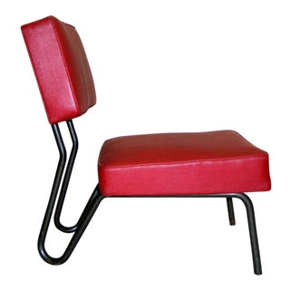Pair Industrial Mid-Century Modern Lounge Chairs by Jacques Hitier, France, 1955