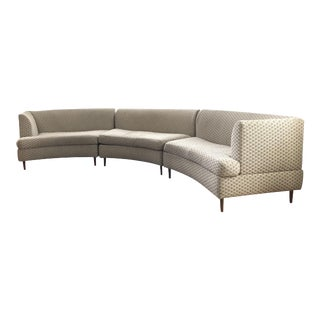 Vintage Mid Century Curved Keller-Williams Sectional Sofa