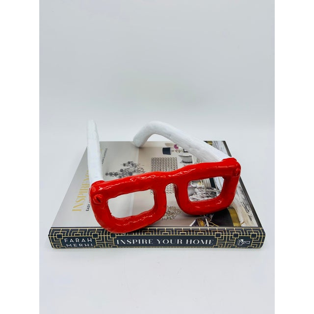 Late 20th Century Mid Century Modern Monumental Reading Glasses For Sale - Image 5 of 11